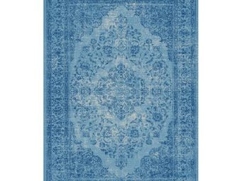 TOUSMESMEUBLES - tapis azur 280 x 200 cm - oriental - l 280 x l 200 - Tapis Contemporain