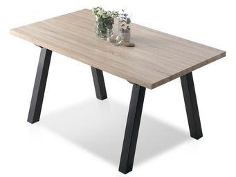 WHITE LABEL - table de repas - deus - l 160 x l 90 x h 76 - bois - Table De Repas Rectangulaire