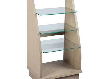 WHITE LABEL - meuble hi-fi chêne gris - oaky - l 57 x l 43 x h 1 - Meuble Tv Hi Fi