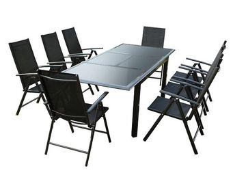 WHITE LABEL - ensemble table et chaises de jardin - sonkran n°2  - Salle À Manger De Jardin