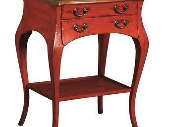 TOUSMESMEUBLES - gu�ridon rouge - gisele - l 59 x l 42 x h 74 - boi - Gu�ridon