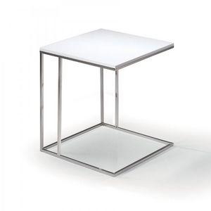 WHITE LABEL - lamina bout de canapé blanc mat - Bout De Canapé
