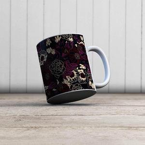 la Magie dans l'Image - mug pivoines black red - Mug