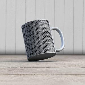 la Magie dans l'Image - mug trèfle blanc noir - Mug