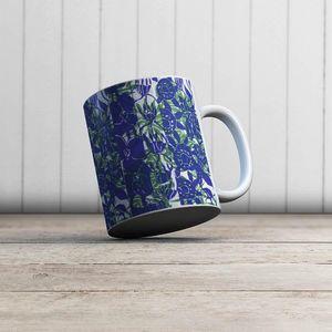 la Magie dans l'Image - mug végétal bleu vert - Mug