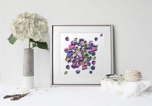 la Magie dans l'Image - print art fraises - Tableau Décoratif