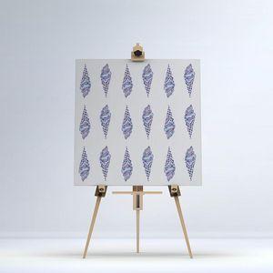 la Magie dans l'Image - toile glaces bleu mauve - Impression Numérique Sur Toile
