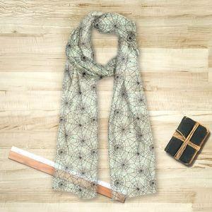 la Magie dans l'Image - foulard toile verte - Foulard Carré