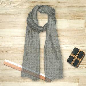 la Magie dans l'Image - foulard trèfle vert-de-gris foncé - Foulard Carré