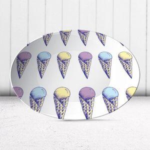 la Magie dans l'Image - assiette glaces pastel - Assiette De Présentation