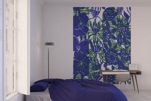 la Magie dans l'Image - grande fresque murale végétal bleu vert - Papier Peint Panoramique
