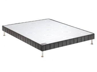 Bultex - bultex sommier tapissier confort ferme tissé gris - Sommier Fixe À Ressorts