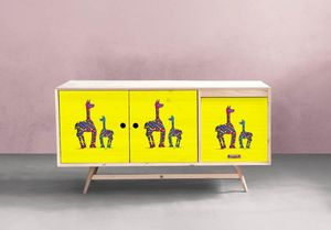 la Magie dans l'Image - adhésif lamas jaunes - Sticker