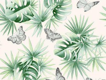 THEVENON - l'ile aux papillons - Tissu D'ameublement