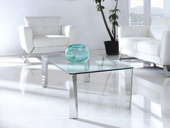 WHITE LABEL - table basse allan - transparent - Table Basse Rectangulaire