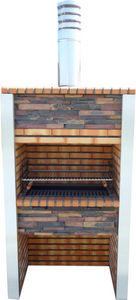DECO GRANIT - barbecue en brique et inox - Barbecue Au Charbon