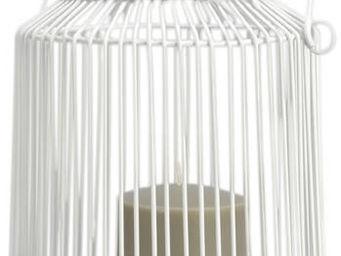 Amadeus - lanterne ajourée blanche - Photophore