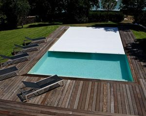 Smart cover couverture de piscine automatique blanc for Prix piscine caron
