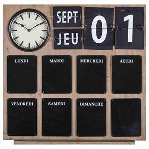 Maisons du monde - horloge en ardois - Horloge Murale