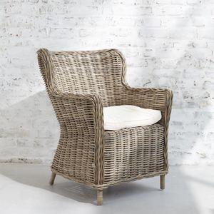 BOIS DESSUS BOIS DESSOUS - fauteuil en rotin naturel atlantic - Fauteuil De Jardin