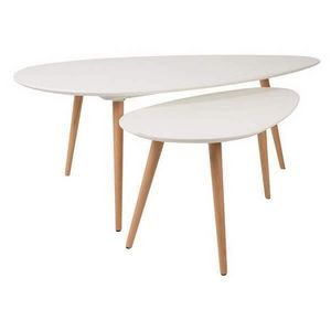 Mathi Design - lot de 2 tables suede - Tables Gigognes