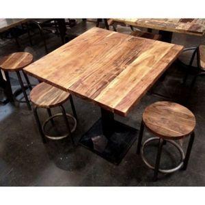 Mathi Design - table carrée bodega - Table De Repas Carrée