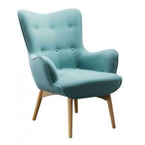 Mathi Design - fauteuil scandinave java turquoise - Fauteuil