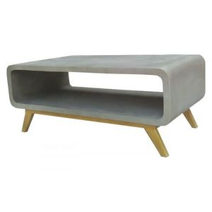 Mathi Design - table basse nordique beton - Table Basse Rectangulaire