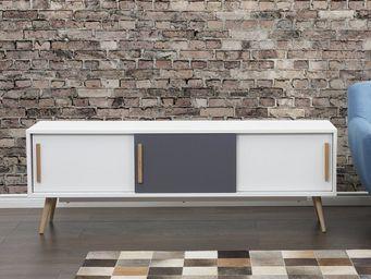 BELIANI - meuble à tiroirs - Meuble Tv Hi Fi