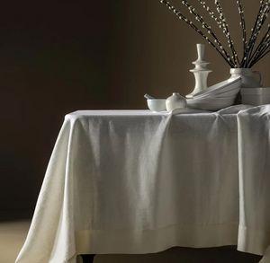 BLANC CERISE - ,délices de lin- - Nappe Rectangulaire