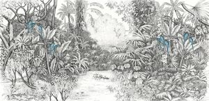 Ananbô - perroquets bleus - Papier Peint Panoramique