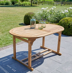 Table de jardin en bois de teck MIDLAND 6/8 places - Table ...
