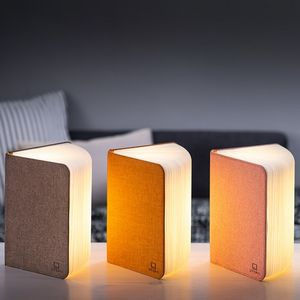 Gingko - mini smart booklight - lampe lin rose 12.5 cm - Lampe À Poser