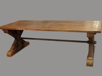 Lawrens - table entretoise 2 tiroirs démontable - Table De Repas Rectangulaire
