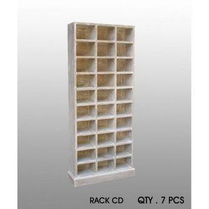 DECO PRIVE - meuble range cd bois ceruse deco prive - Range Cd