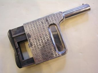 Aux Armes d'Antan - pistolet de poche � r�p�tition manuelle le gaulois n�2 - Pistolet Et R�volver