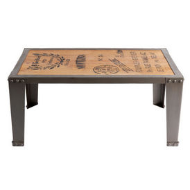 Table basse manufacture table basse rectangulaire for Table basse maison du monde