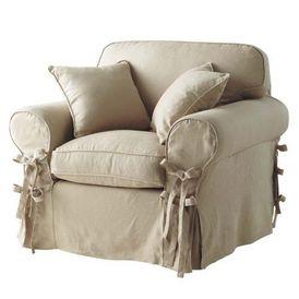 Fauteuil lin butterfly fauteuil maisons du monde - Maison du monde housse de coussin ...