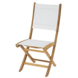 Chaise blanche Capri - Chaise de jardin - Maisons du monde