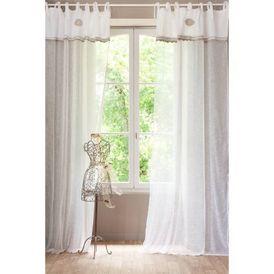 rideau isabella rideaux lacettes maisons du monde. Black Bedroom Furniture Sets. Home Design Ideas