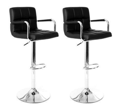chaise haute de bar noir miliboo decofinder. Black Bedroom Furniture Sets. Home Design Ideas