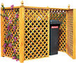 Cache-poubelle-Ideanature-Double cache conteneur En Pin traité
