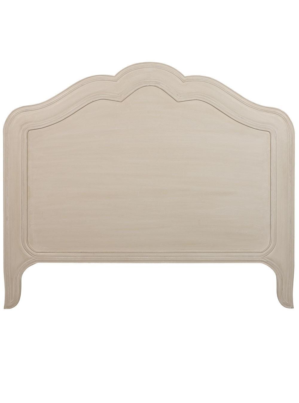 Lauren gris perle antique t te de lit blanc d 39 ivoire for Lit blanc d ivoire