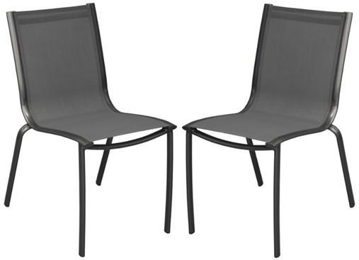 Chaise linea en aluminium royal grey et textilène - Chaise de ...