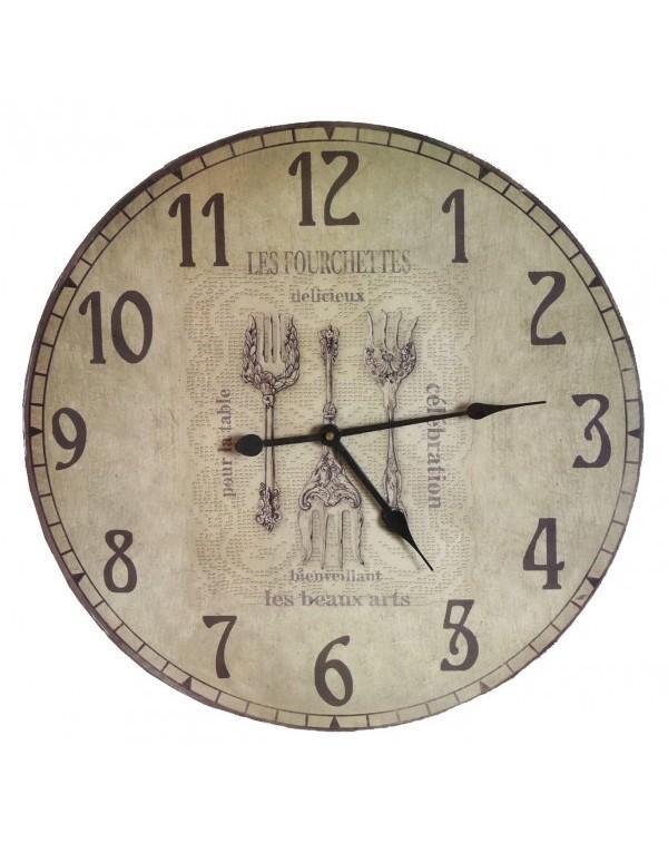 Horloge murale de cuisine en bois 45cm horloge murale - Horloge de cuisine murale ...