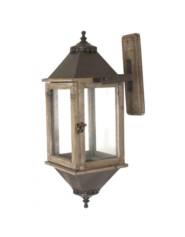 Lanterne style ancien bois 54cm lanterne d 39 ext rieur for Lanterne a poser exterieur