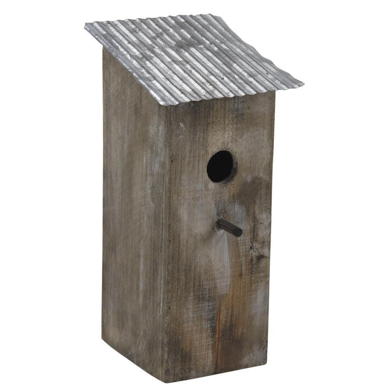 nichoir oiseau toit zinc maison d 39 oiseau bois aubry gaspard. Black Bedroom Furniture Sets. Home Design Ideas