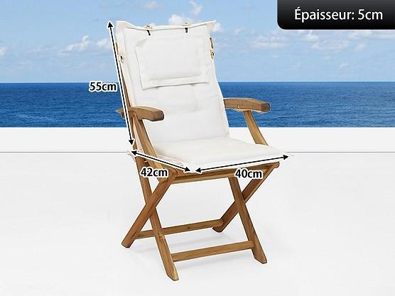 java coussin de si ge de jardin beige tissu 55x40x5. Black Bedroom Furniture Sets. Home Design Ideas
