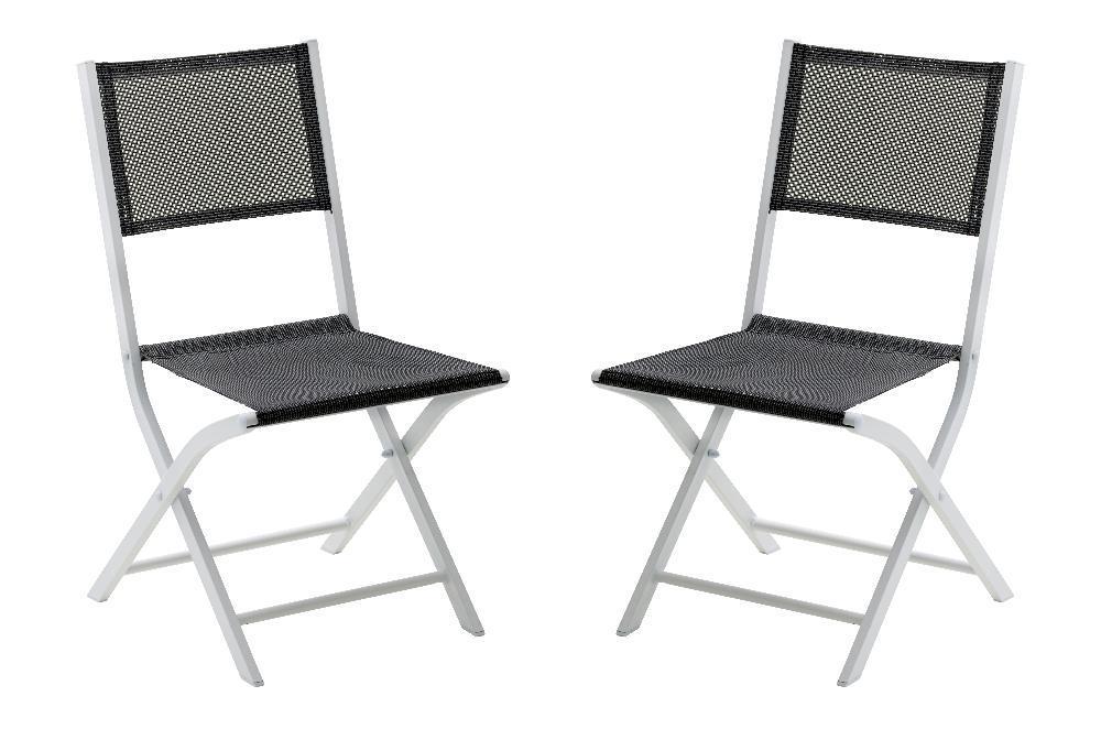 Chaise pliante Modulo (Lot de 2) - Chaise de jardin pliante ...