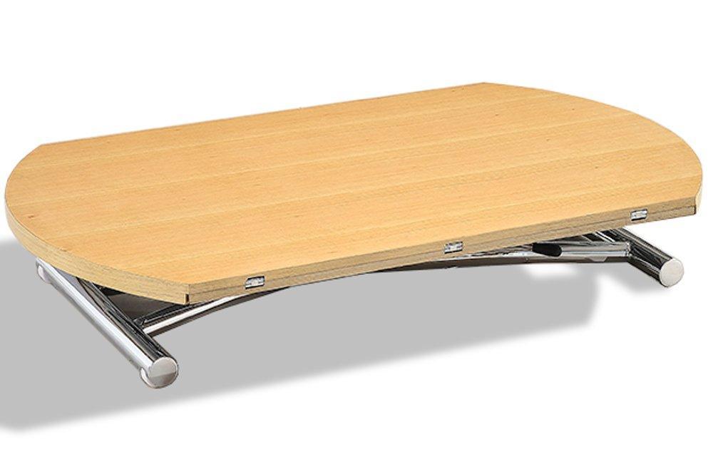 Table basse ronde relevable et extensible planet c table Table basse ronde relevable